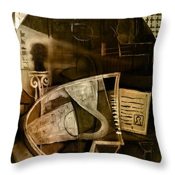 Still Life With Piano And Bust Throw Pillow