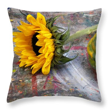 Still Life With Sunflower Throw Pillow