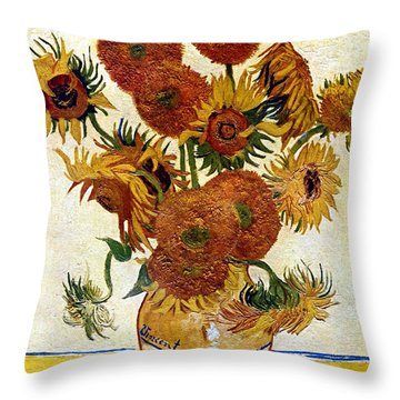 Still Life With Sunflowers Throw Pillow
