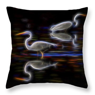 Throw Pillow featuring the digital art Still Point Dancers 1 by William Horden