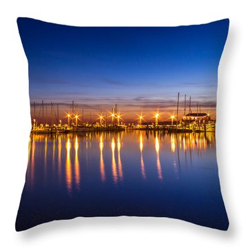 Still Reflections Throw Pillow by Brian Wright