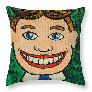 Still Smiling Throw Pillow