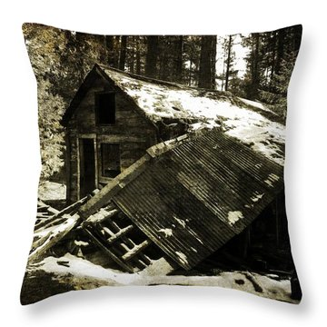 Still Standing Throw Pillow by Leah Moore