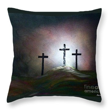 Throw Pillow featuring the painting Still The Light by Eloise Schneider