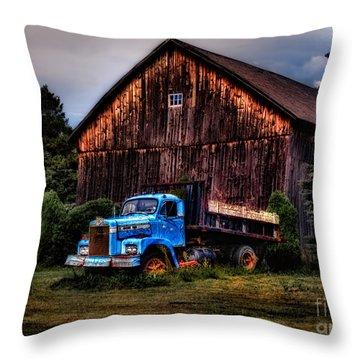 Still Truckin Throw Pillow by Susan Candelario