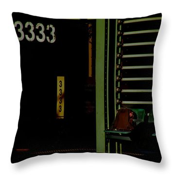 Throw Pillow featuring the photograph Still Waiting At 3333 by Lin Haring