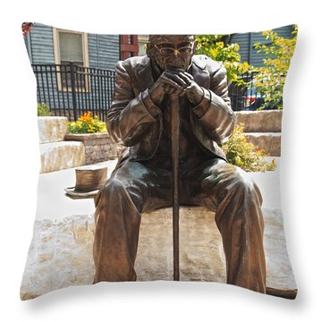 Still Waiting Throw Pillow by William Norton