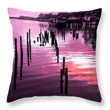 Throw Pillow featuring the photograph Still Water Dusk 2 by Wallaroo Images