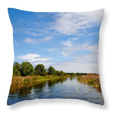 Throw Pillow featuring the photograph Still Water by Jean Haynes