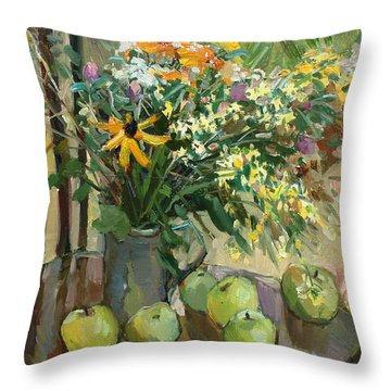 Stilllife With Apples Throw Pillow