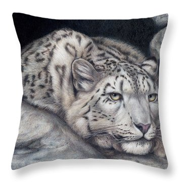 Throw Pillow featuring the painting Stillnes Like A Stone by Pat Erickson