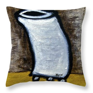 Throw Pillow featuring the painting Stills 10-003 by Mario Perron