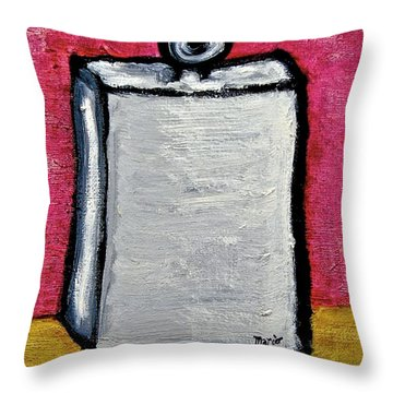 Throw Pillow featuring the painting Stills 10-004 by Mario Perron