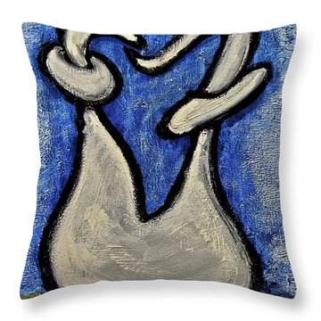 Throw Pillow featuring the painting Stills 10-006 by Mario Perron