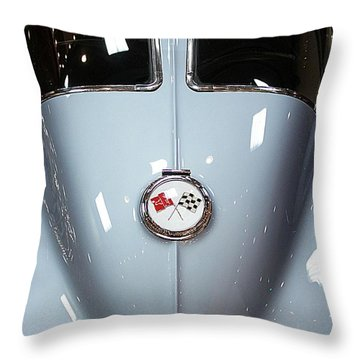 Classic Cars Throw Pillow featuring the photograph '63 Sting Ray  by Aaron Berg