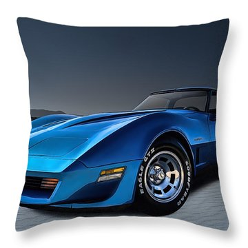Stingray Blues Throw Pillow