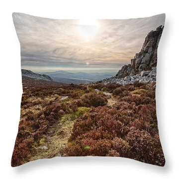 Stiperstones National Nature Reserve Throw Pillow