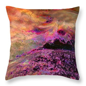 Stirrings In The Sea Throw Pillow