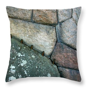 Stitched Stones Throw Pillow
