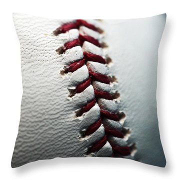 Stitches II Throw Pillow by John Rizzuto