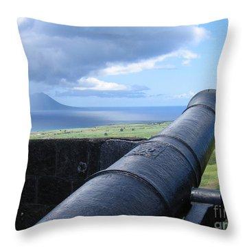 St.kitts Nevis - On Guard Throw Pillow