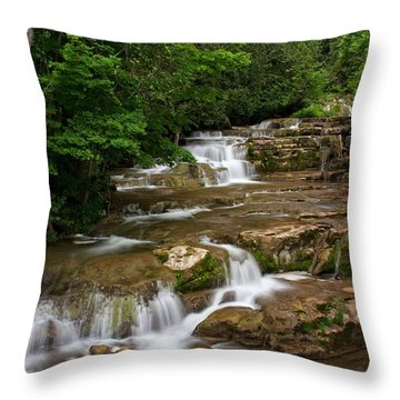 Throw Pillow featuring the photograph Stockbridge Falls by Dave Files