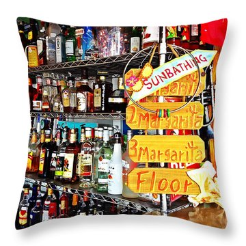 Stocked Bar At Jax Throw Pillow