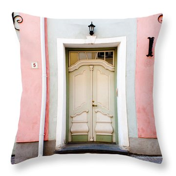 Stockholm Doorway Throw Pillow by Thomas Marchessault