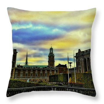Stockholm II Throw Pillow by Ramon Martinez