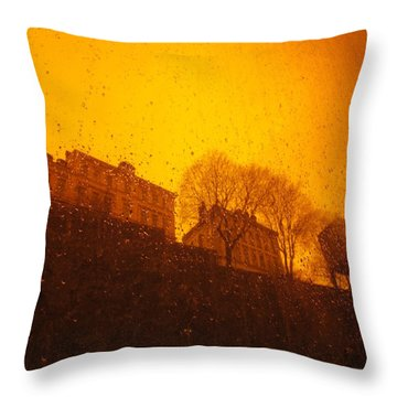 Stockholm The Heights Of South In Silhouette Throw Pillow