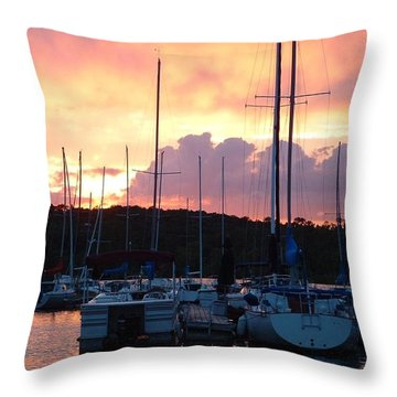 Throw Pillow featuring the photograph Stockton Sunset by Deena Stoddard