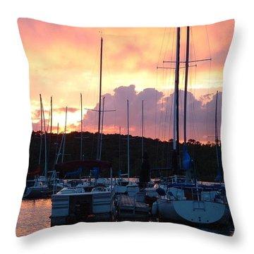 Stockton Sunset Throw Pillow by Deena Stoddard