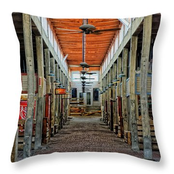 Stockyard Mall Throw Pillow