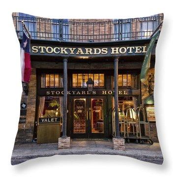 Stockyards Hotel Throw Pillow