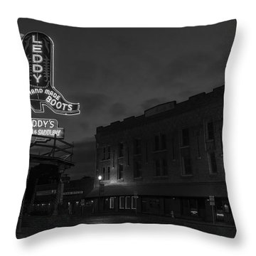 Stockyards Main And Exchange Bw Throw Pillow