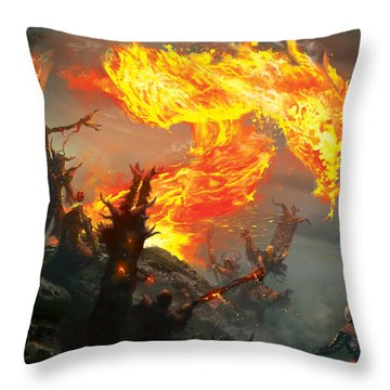 Stoke The Flames Throw Pillow