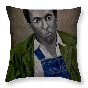 Stokely Carmichael Aka Kwame Toure Throw Pillow