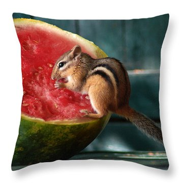 Stolen Lunch Throw Pillow
