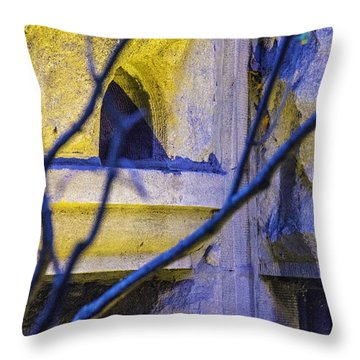 Stone Abstract One Throw Pillow