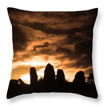 Stone Alignment Throw Pillow by Aidan Moran