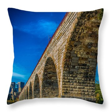 Stone Arch Bridge By Paul Freidlund Throw Pillow
