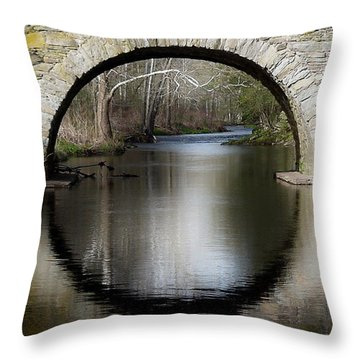 Stone Arch Bridge Throw Pillow