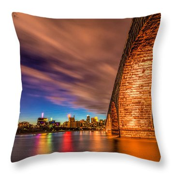 Stone Arch Minneapolis Throw Pillow by Mark Goodman