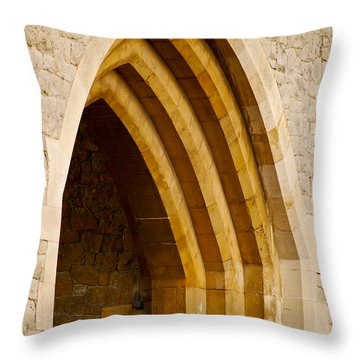 Stone Archway At Tower Hill Throw Pillow by Christi Kraft