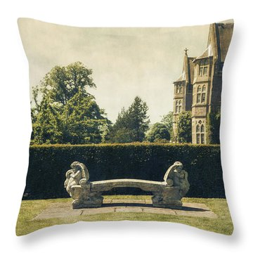 Stone Bench Throw Pillow by Joana Kruse