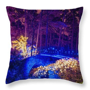 Stone Bridge - Full Height Throw Pillow
