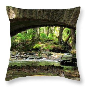 Stone Bridge II Throw Pillow by Elizabeth Dow