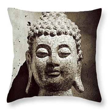 Stone Buddha Throw Pillow