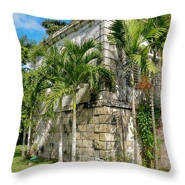Stone Building Good Hope Estate Jamaica Throw Pillow
