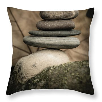 Stone Cairns Iv Throw Pillow